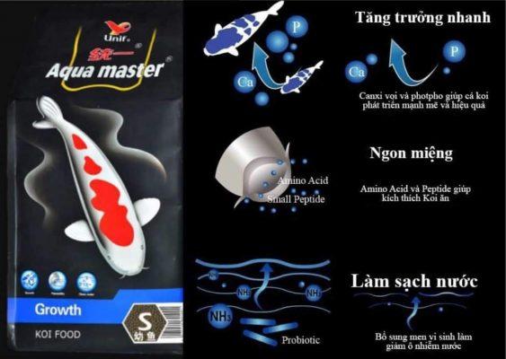 thức ăn cá koi Aqua Master
